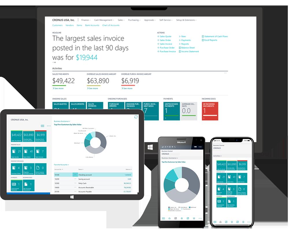 Moderne Clients - Microsoft Dynamics 365 Business Central