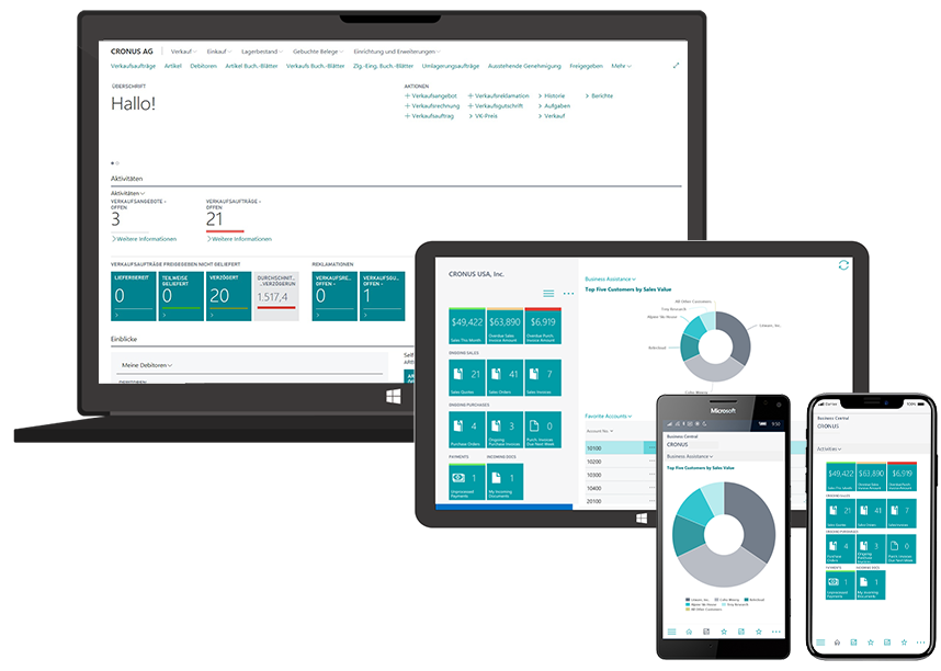 Business Central Screens_ERPcloud360